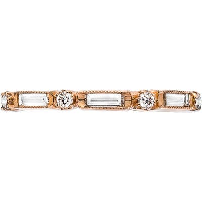 Sethi Couture Silhouette Baguette Diamond Ring