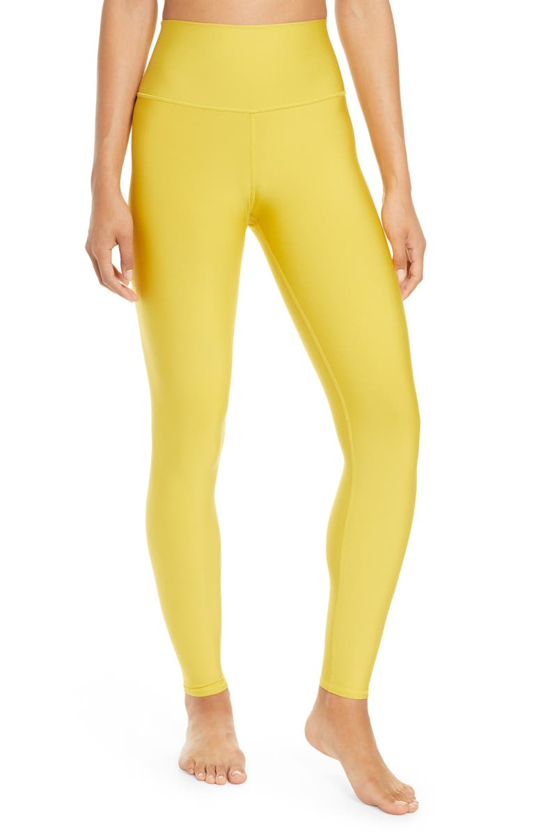 ALO Airlift High Waist Leggings, Main, color, SULPHUR