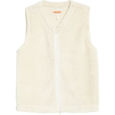 Eileen Fisher Recycled Polyester Fleece Vest, White (Unisex) (Nordstrom Exclusive)