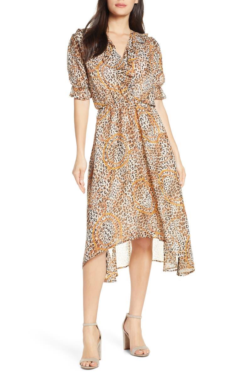 FRAICHE BY J Kenya High/Low Dress, Main, color, KENYA