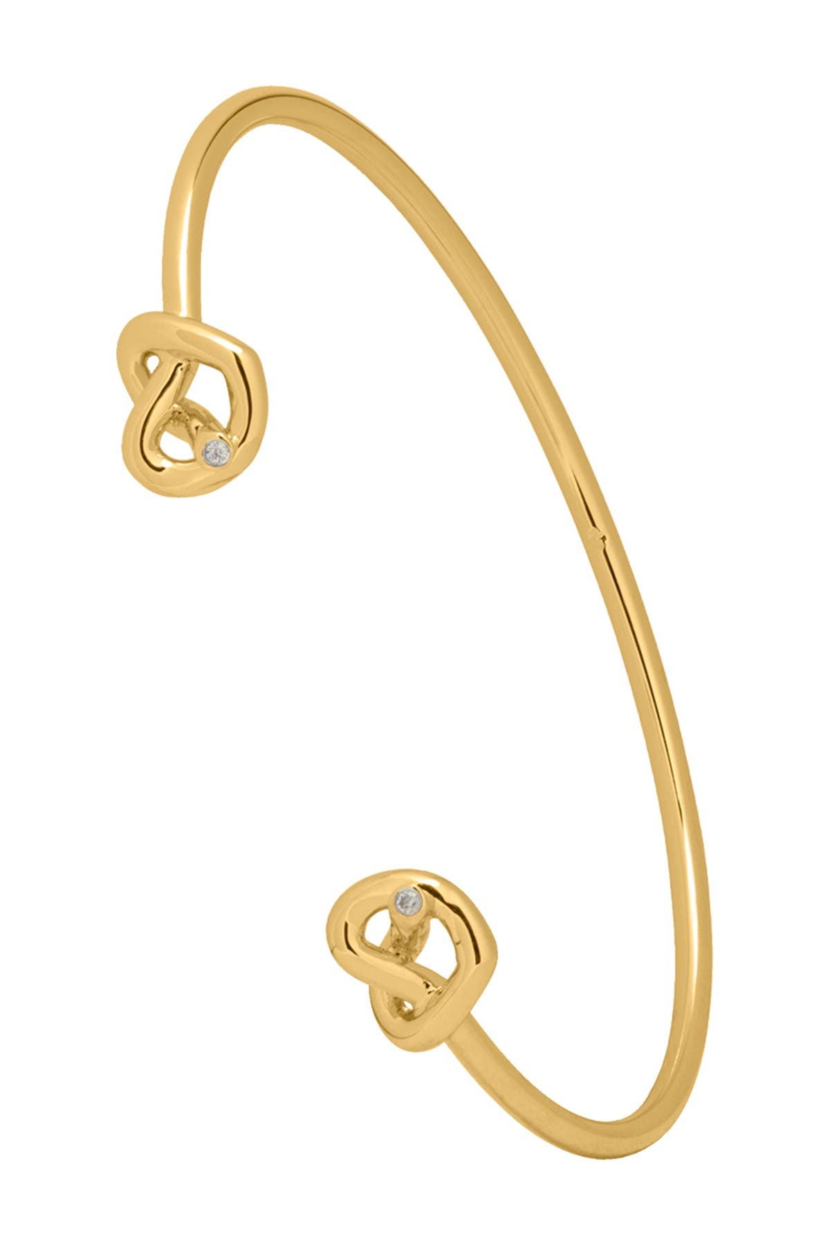 Image of kate spade new york loves me knot CZ double knot cuff