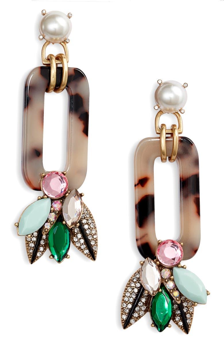 STELLA & DOT Belle Earrings, Main, color, GOLD/ MULTI