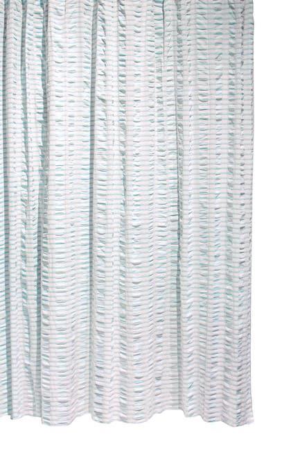 Image of BCBG Chunky Stripe Shower Curtain - Blue