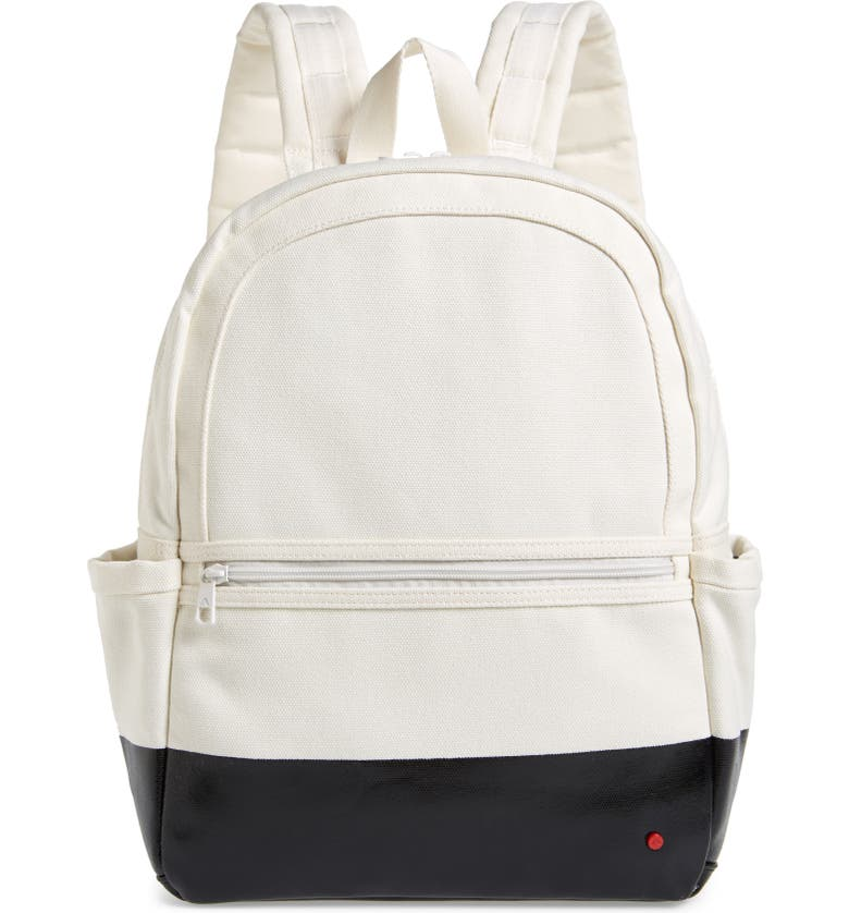 STATE BAGS Bedford Kane Color Dipped Canvas Backpack, Main, color, NATURAL/ BLACK