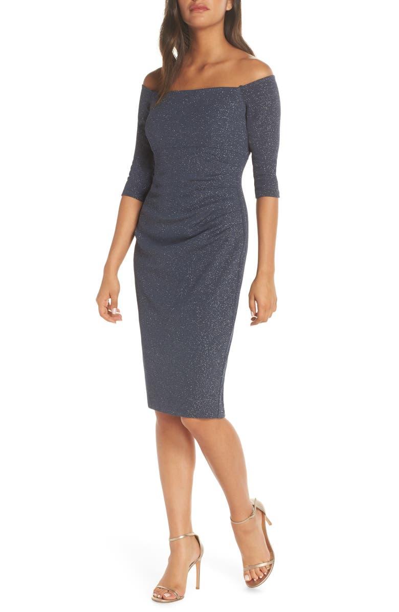 ELIZA J Off the Shoulder Sheath Dress, Main, color, 020