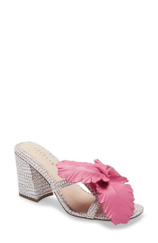 Cecelia New York Mid heels HIBISCUS SLIDE SANDAL