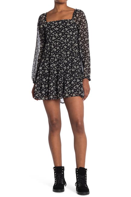Image of ROW A Floral Babydoll Dress