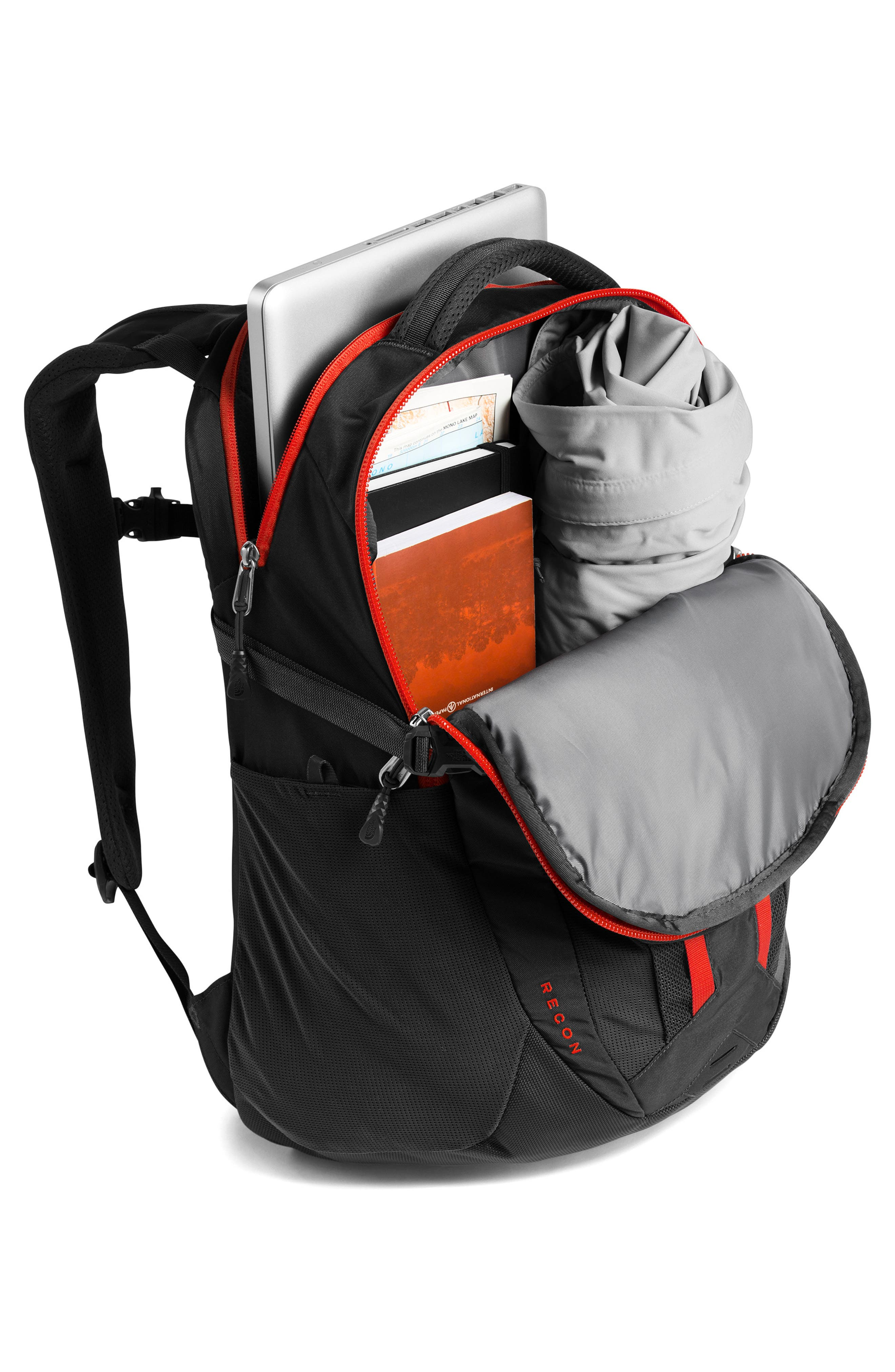 ,                             Recon Backpack,                             Alternate thumbnail 5, color,                             ASPHALT GREY / FIERY RED