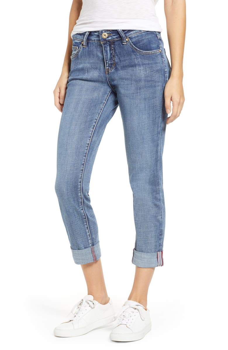 JAG JEANS Carter Girlfriend Jeans, Main, color, MED INDIGO