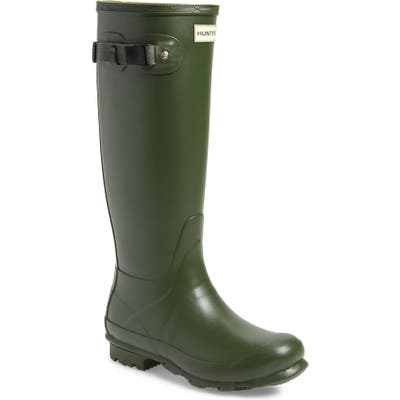 Hunter Norris Field Waterproof Boot, Green