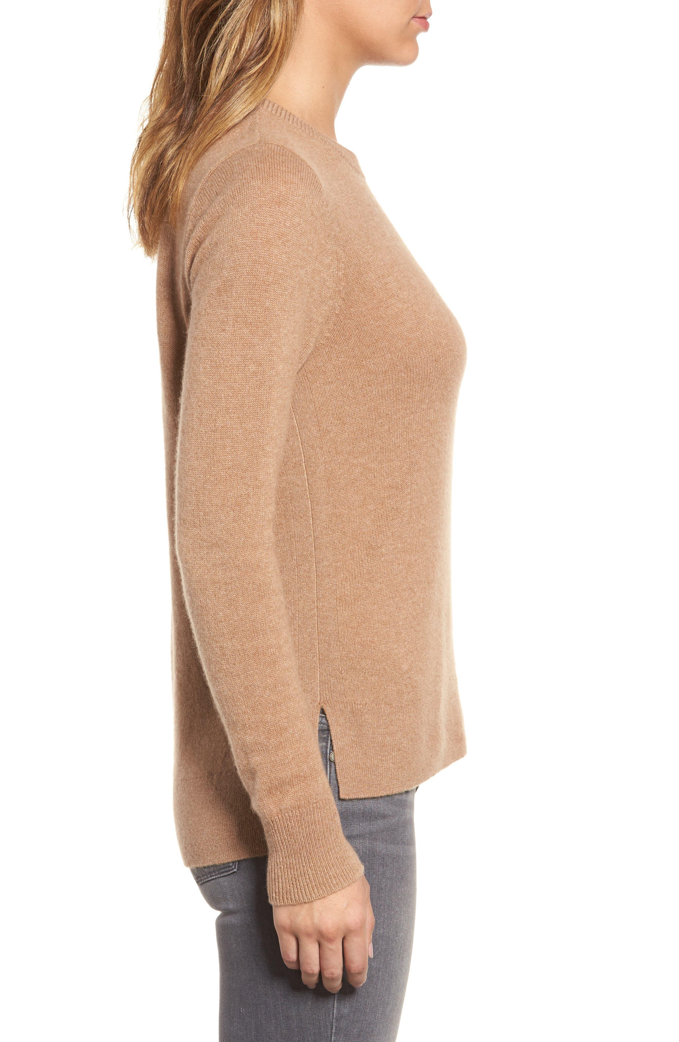 ,                             Crewneck Cashmere Sweater,                             Alternate thumbnail 262, color,                             235