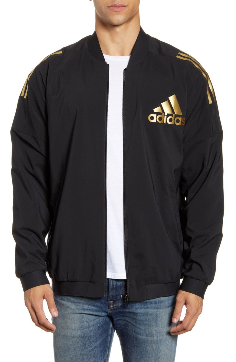 ADIDAS Stadium ID Track Jacket, Main, color, 001
