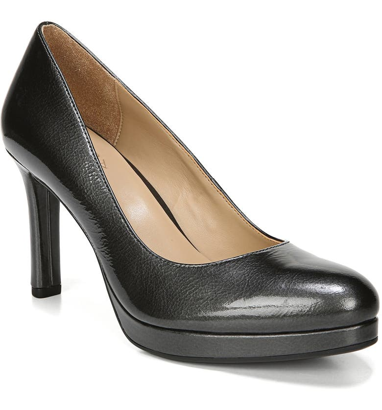 NATURALIZER Teresa Platform Pump, Main, color, GUNMETAL PATENT LEATHER