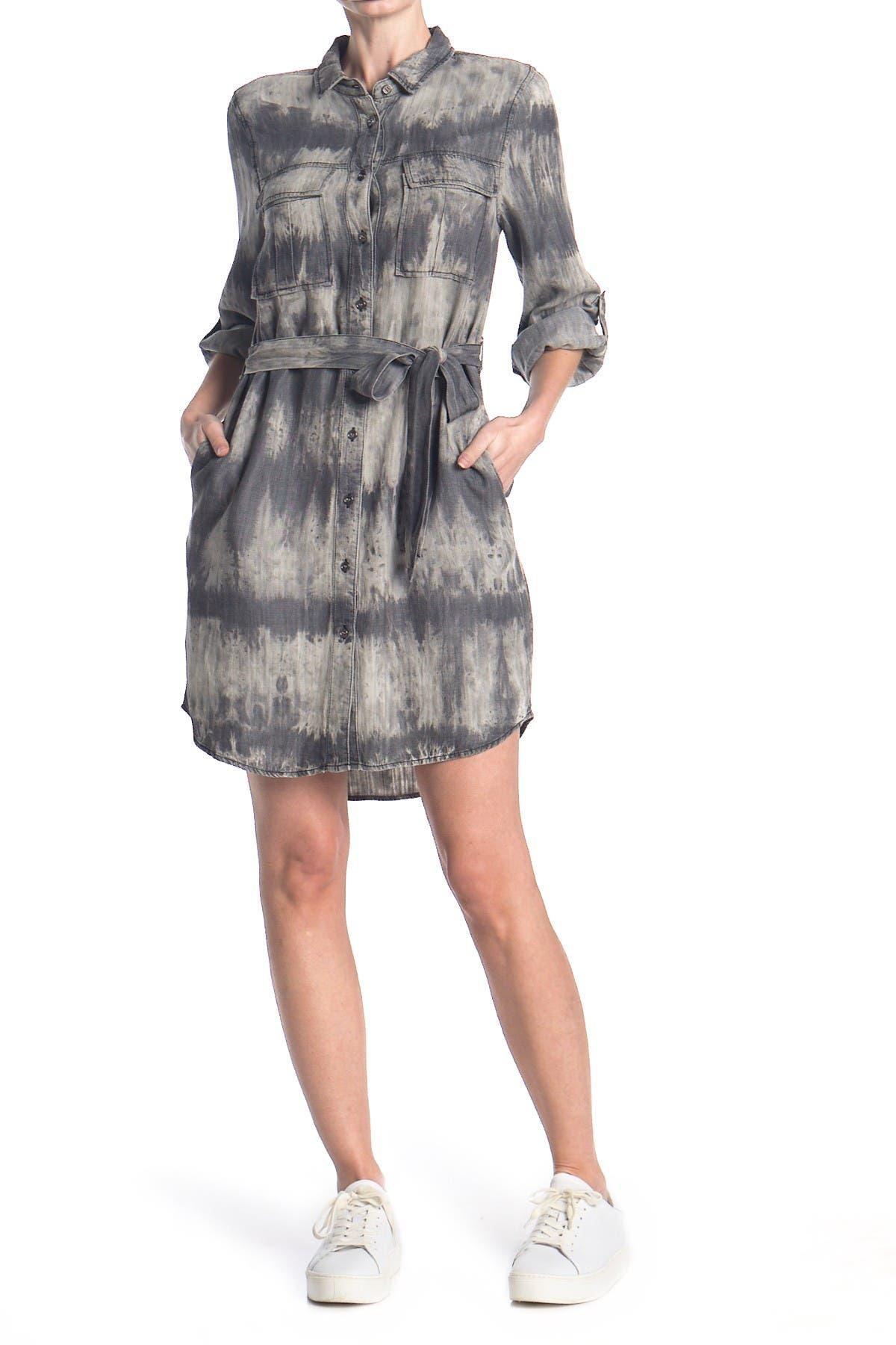 Image of Velvet Heart Ada Chambray Waist Tie Utility Dress