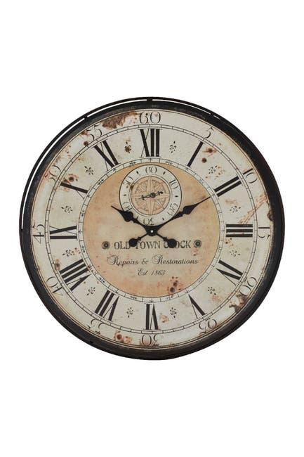 Image of Willow Row Wood & Metal Wall Clock