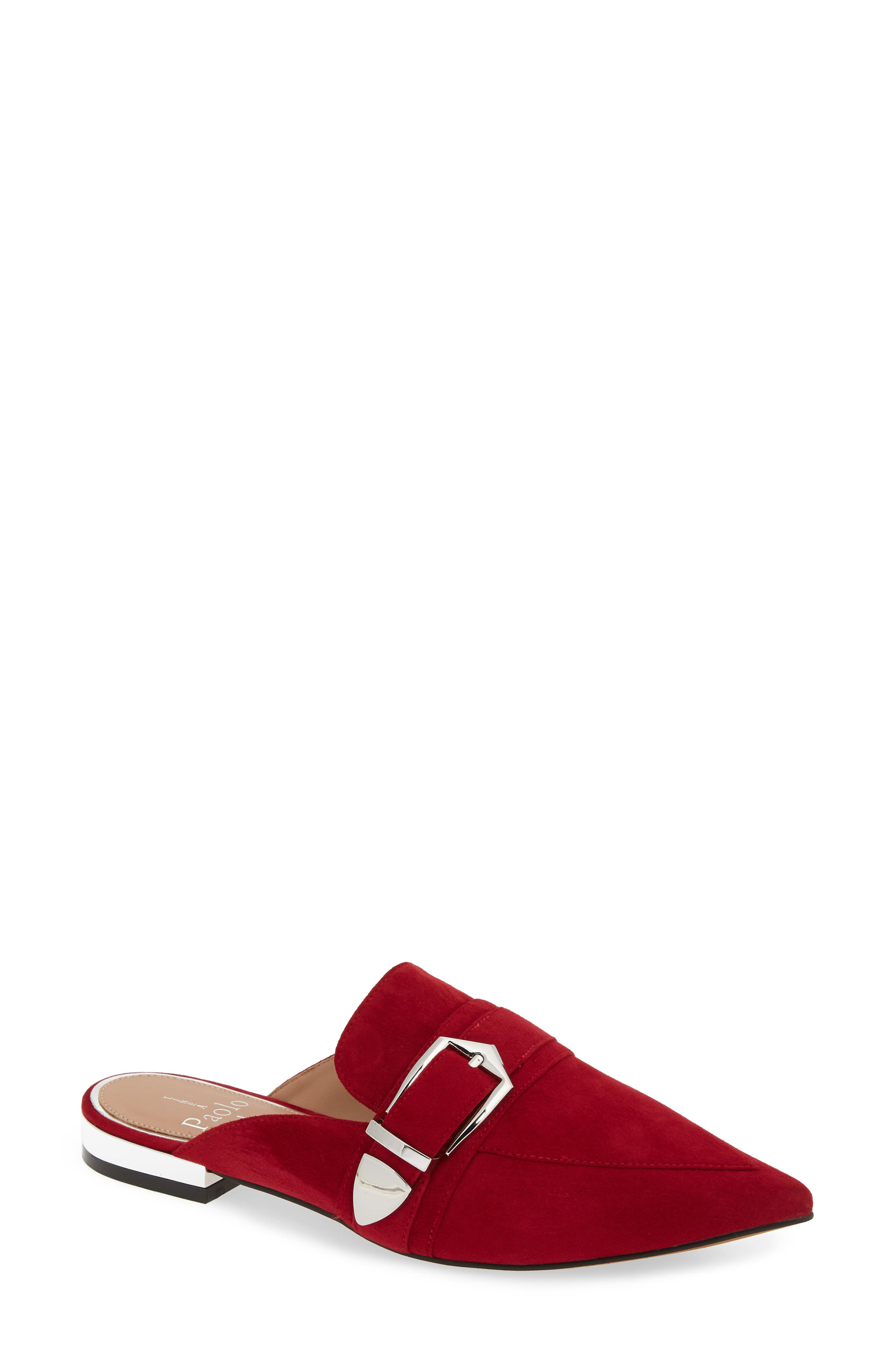 Ace Buckle Pointed Toe Mule