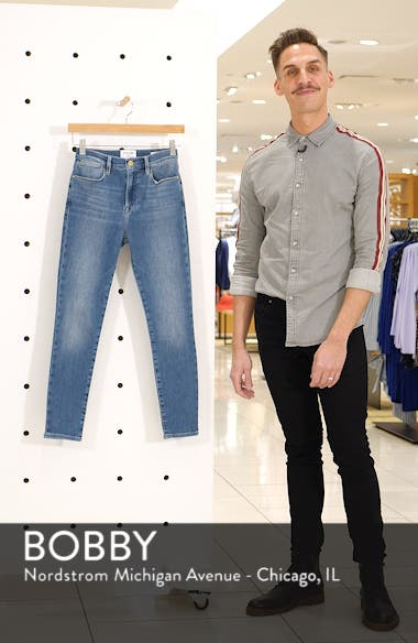 Le High Waist Crop Skinny Jeans, sales video thumbnail