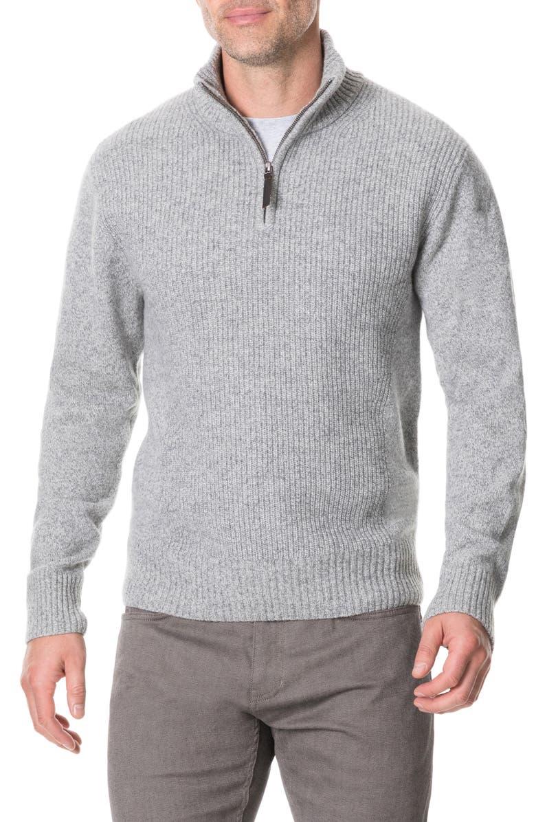 RODD & GUNN Charlestown Quarter Zip Sweater, Main, color, SMOKE