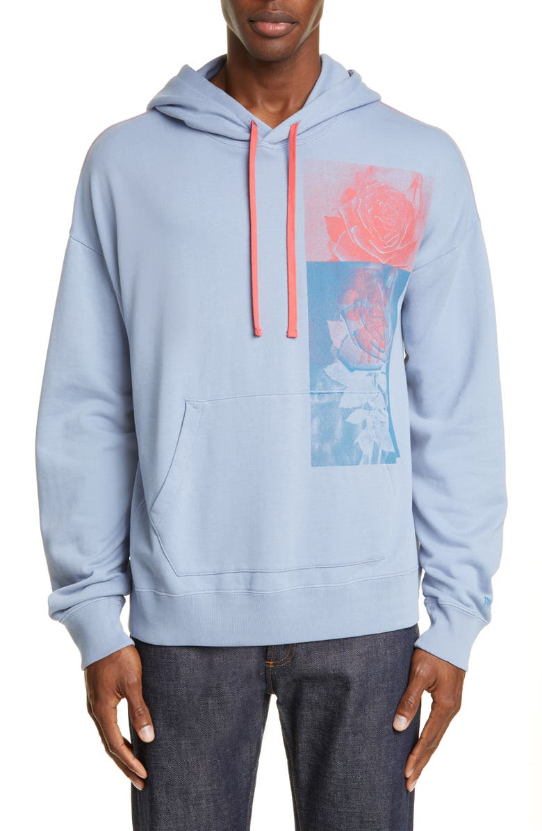 OVADIA & SONS Earth's Bounty Oversize Hoodie, Main, color, BLUE