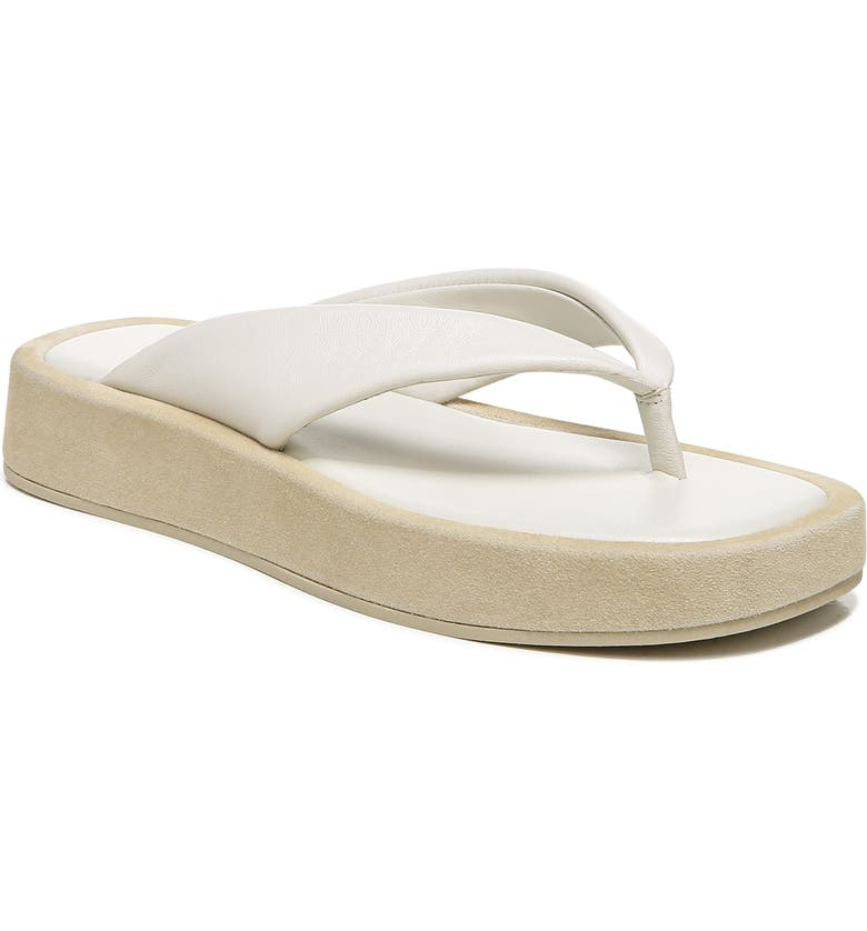 VINCE Nell Platform Flip Flop, Main, color, OFF WHITE