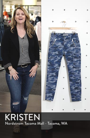 Juliette Skinny Camo Denim Pants, sales video thumbnail