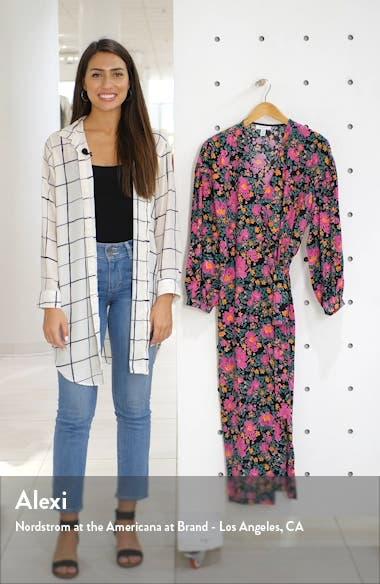 Floral Print Wrap Dress, sales video thumbnail