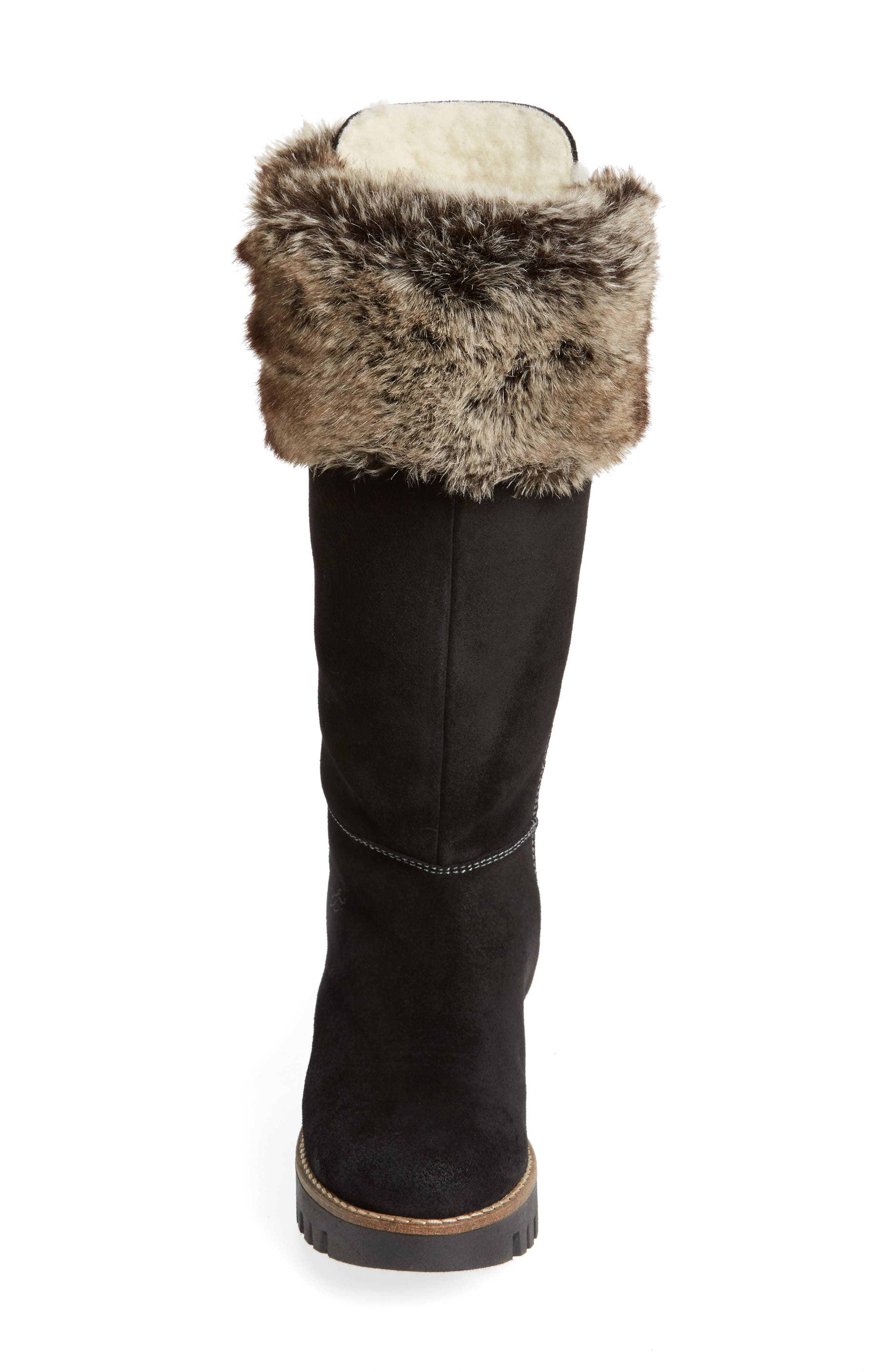,                             Graham Waterproof Winter Boot with Faux Fur Cuff,                             Alternate thumbnail 4, color,                             001