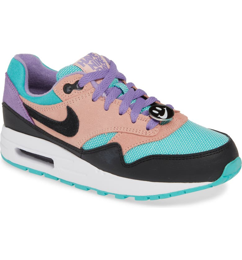 NIKE Air Max 1 Have a Nike Day Sneaker, Main, color, 001
