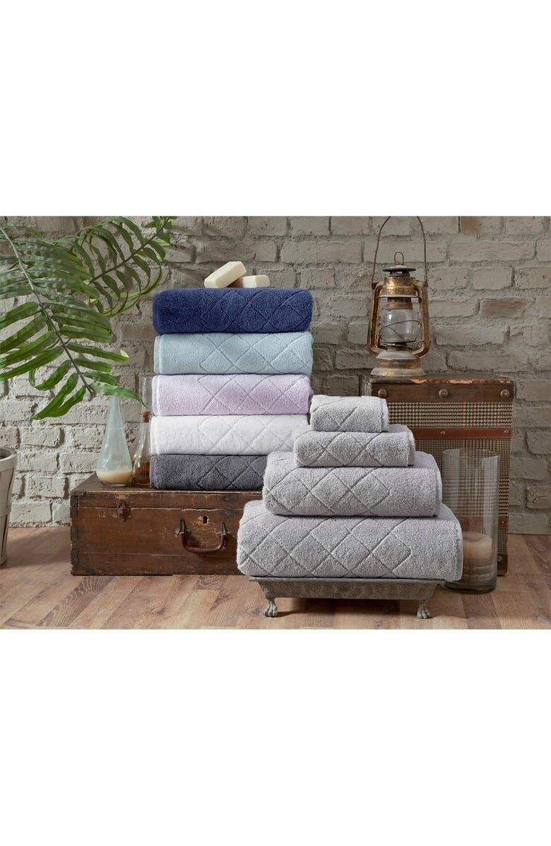ENCHANTE HOME Gracious Turkish Cotton 6-Piece Towel Set - Anthracite, Main, color, ANTHRACITE