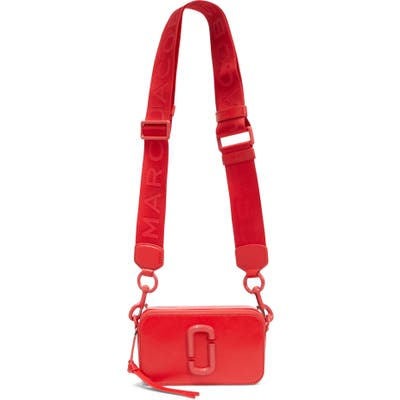 Marc Jacobs Snapshot Leather Crossbody Bag - Red