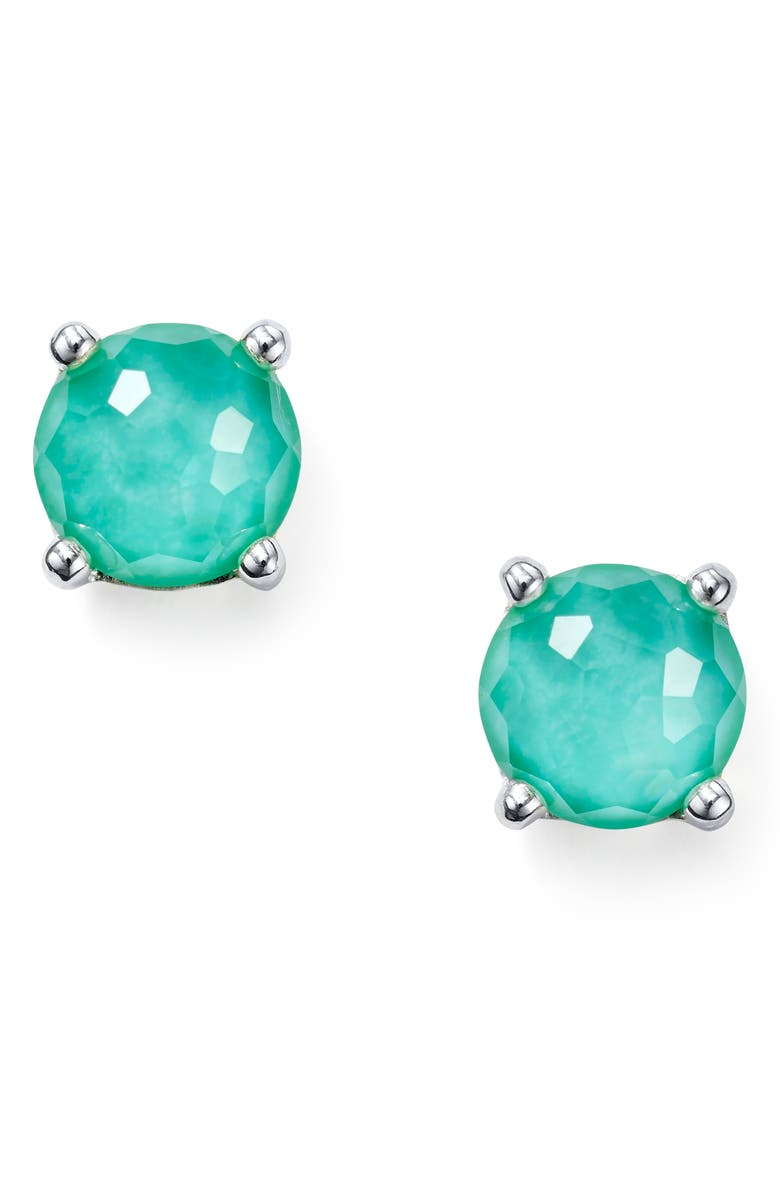 IPPOLITA Rock Candy Stud Earrings, Main, color, TURQUOISE