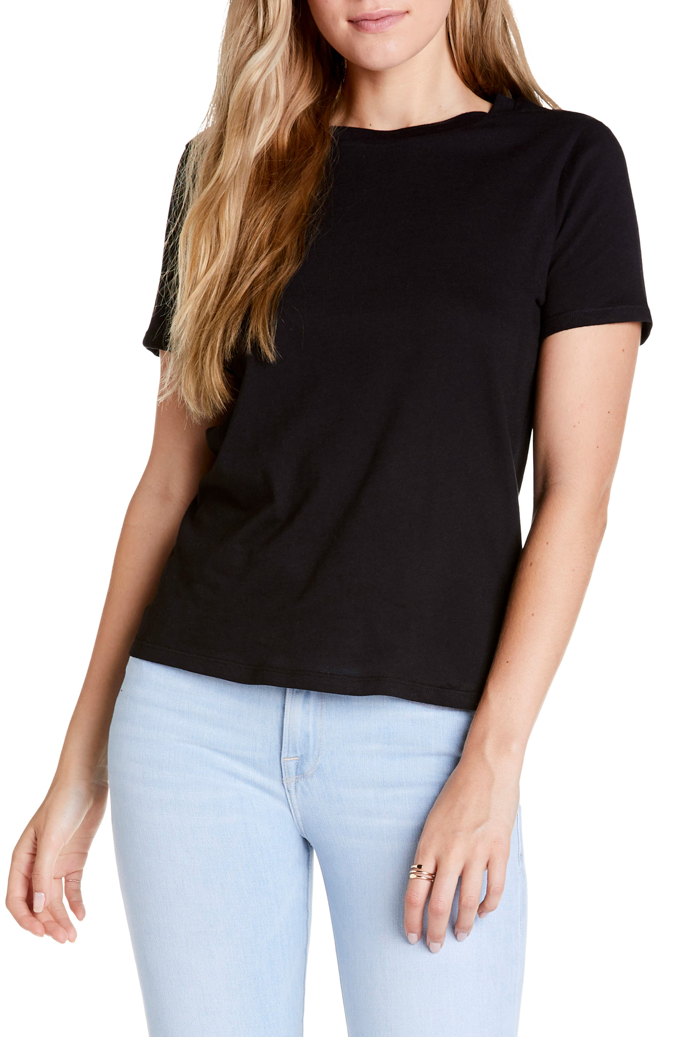 Michael Stars Vintage Jersey Collection Classic Fit Tee, Black