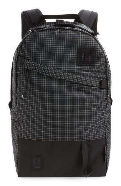 Topo Designs Bags CANVAS & LEATHER DAYPACK - BLACK