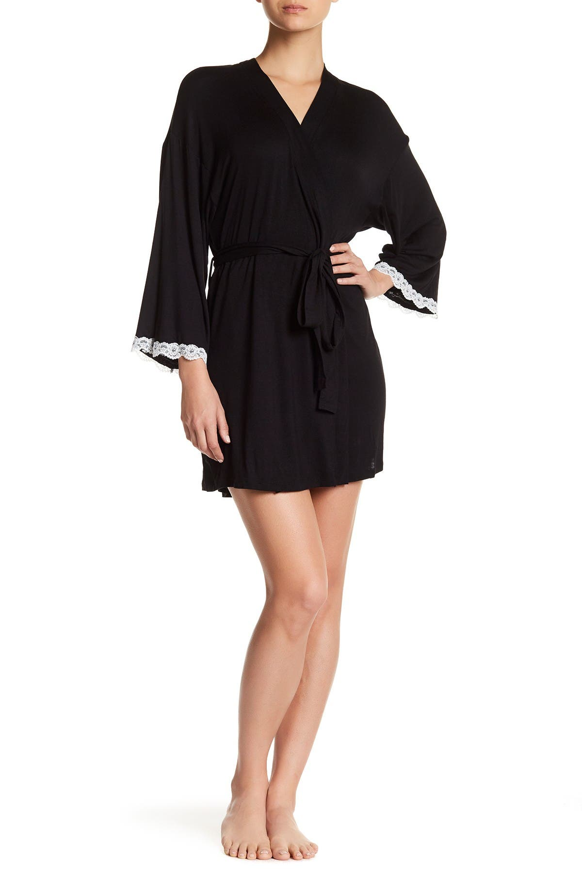Image of h.dew Lace Trim Robe