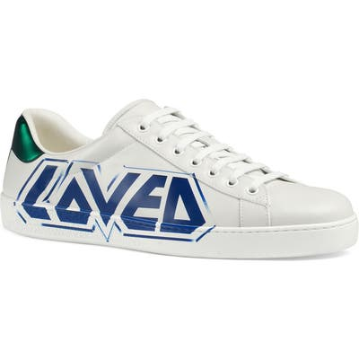 Gucci New Ace Graffiti Loved Sneaker - White