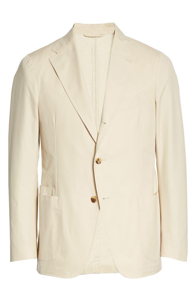 DRAKE'S Wordsworth Paper Cotton Jacket, Main, color, CREAM