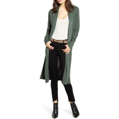 Plus Size Leith Longline Cardigan, Size - Green