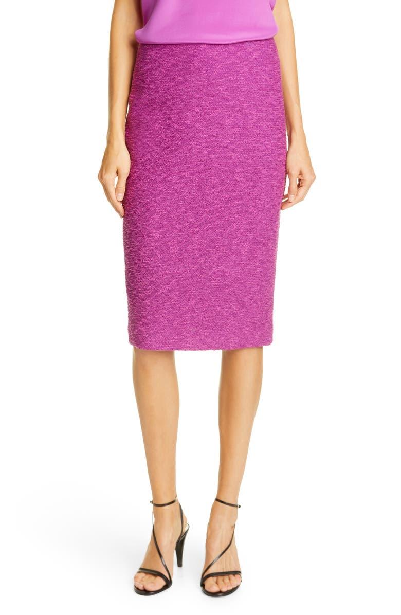 ST. JOHN COLLECTION Belle du Jour Knit Pencil Skirt, Main, color, ROSEWOOD