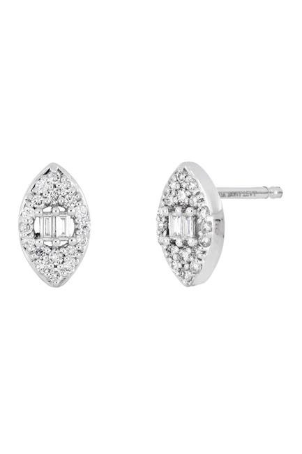 Image of Bony Levy 18k White Gold & Diamond Marquise Mika Stud Earrings - 0.20 ctw