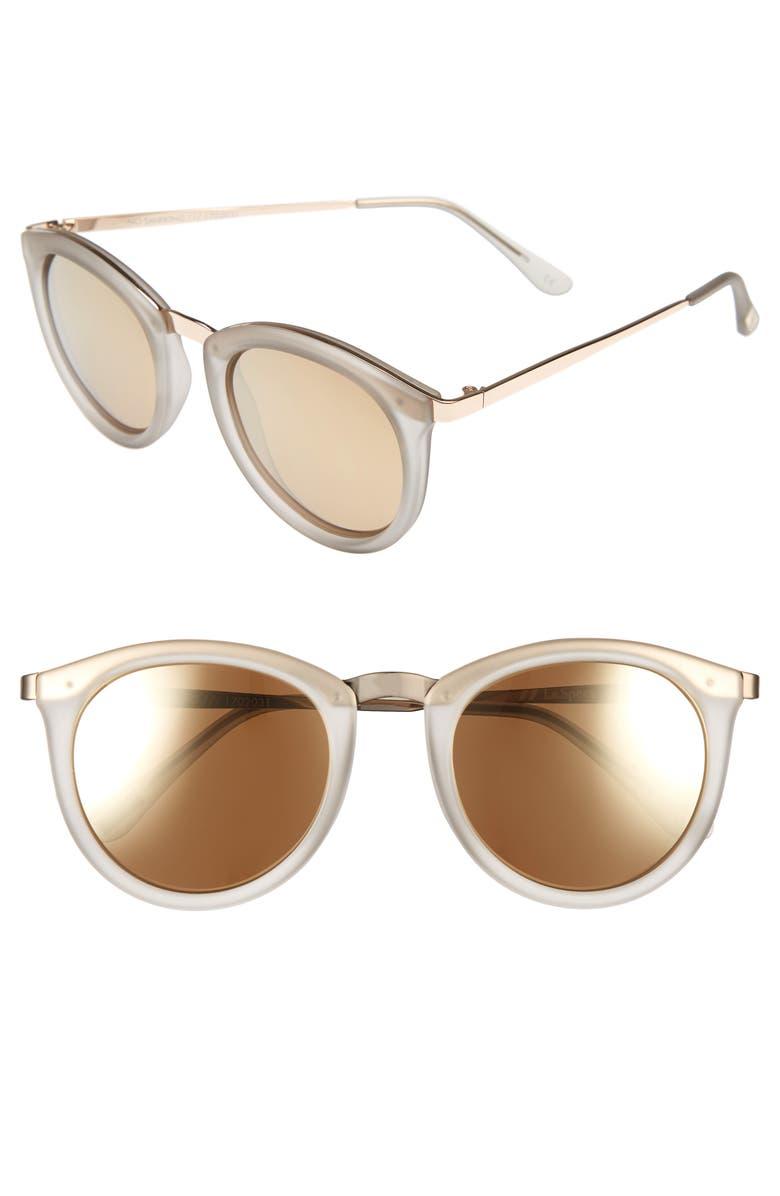 LE SPECS No Smirking 51mm Polarized Sunglasses, Main, color, MIST MATTE