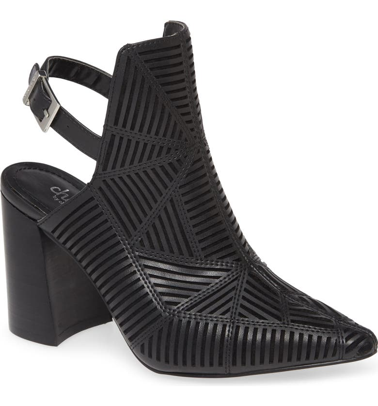 CHARLES BY CHARLES DAVID Venom Slingback Bootie, Main, color, BLACK