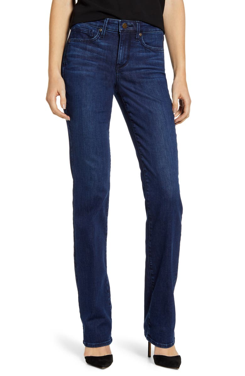 Marilyn Stretch Straight Leg Jeans, Main, color, DENSLOWE