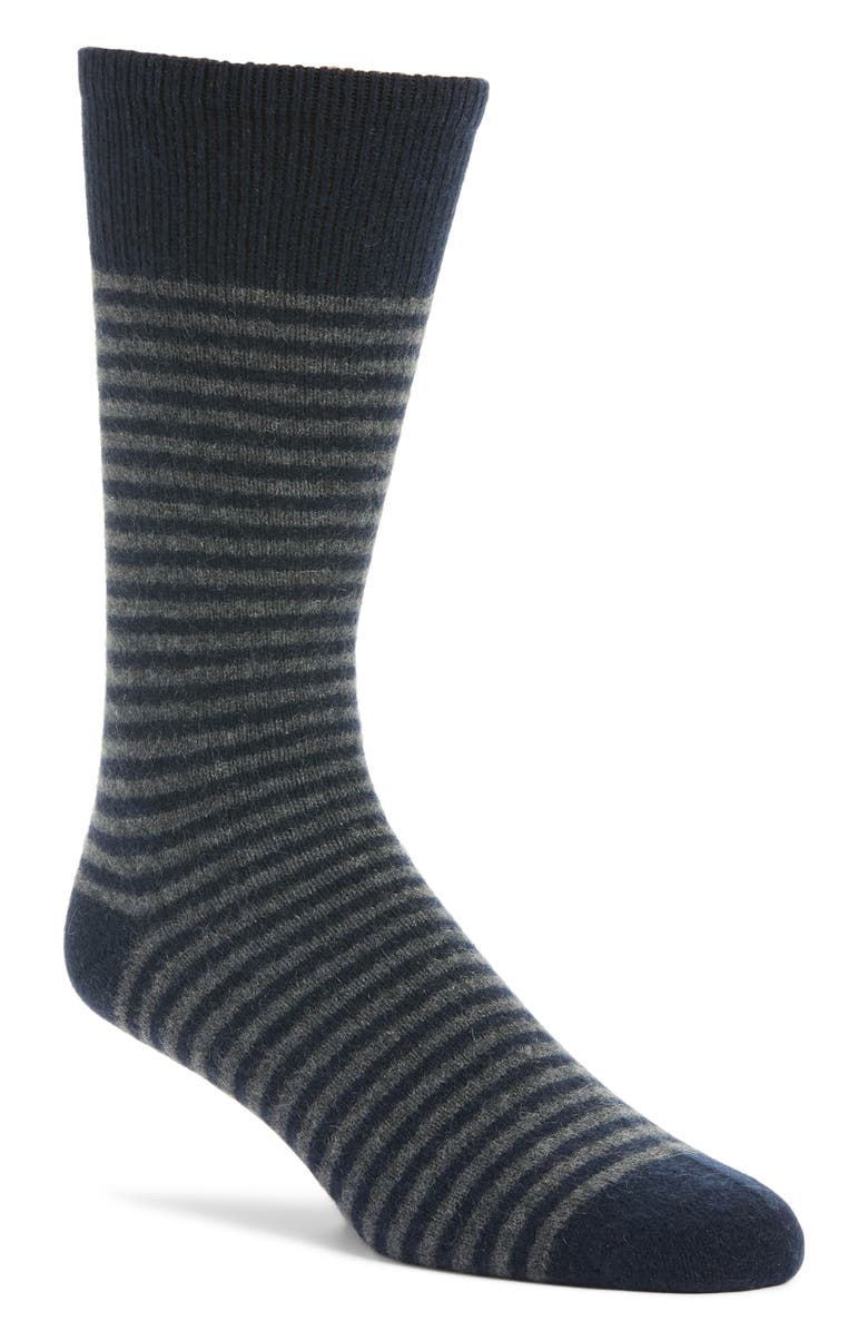 NORDSTROM SIGNATURE Stripe Cashmere Blend Socks, Main, color, 410
