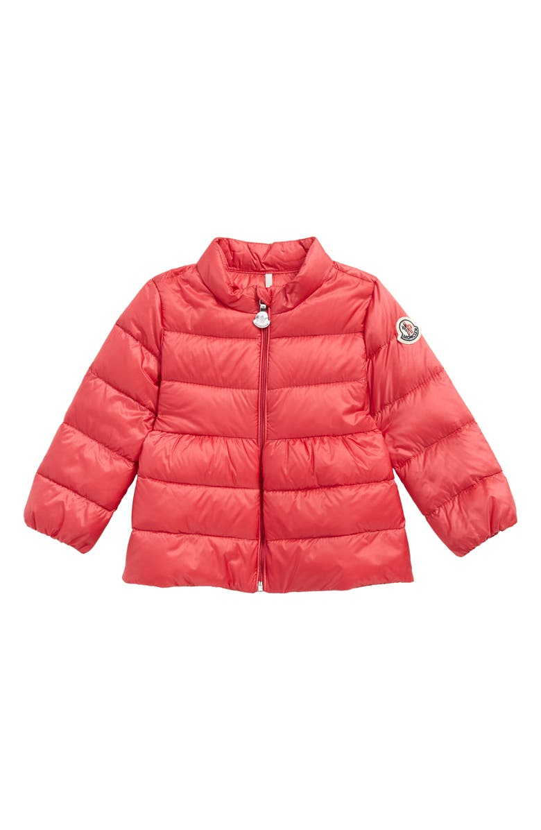 MONCLER Joelle Goose Down Coat, Main, color, PINK