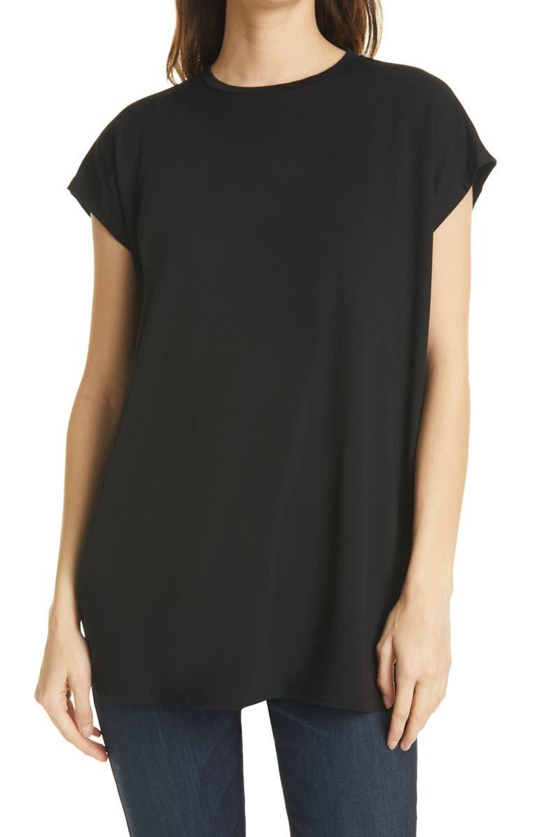 EILEEN FISHER Tunic T-Shirt, Main, color, 001