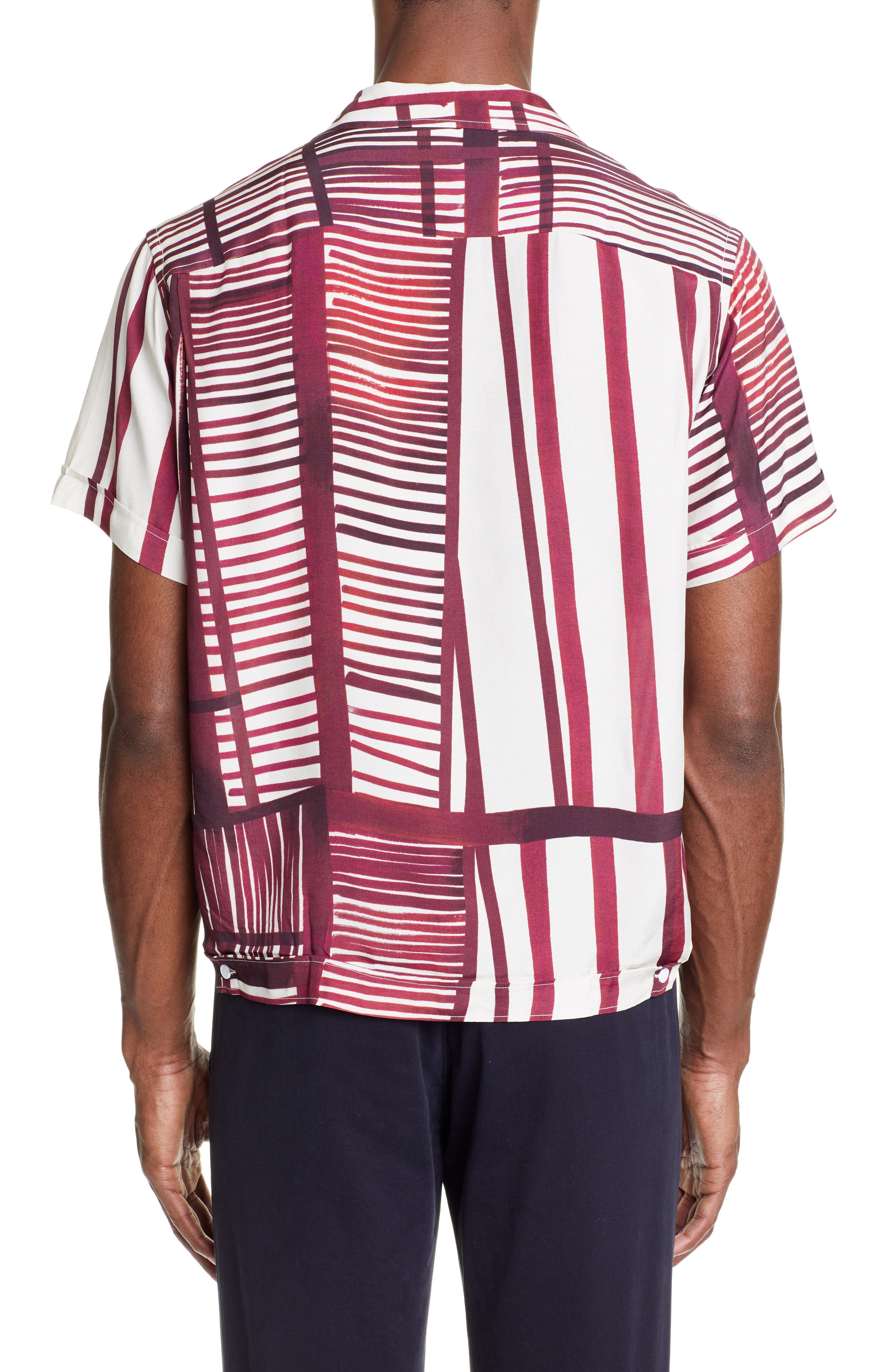 ,                             Willy Stripe Camp Shirt,                             Alternate thumbnail 3, color,                             930
