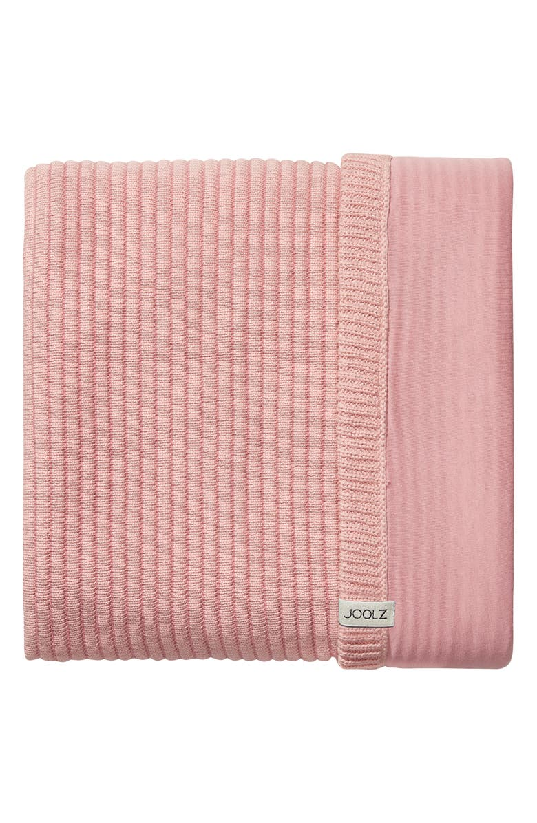 JOOLZ Essentials Ribbed Organic Cotton Blanket, Main, color, PINK