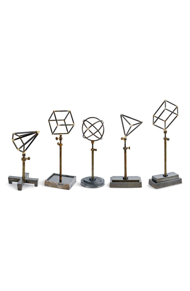 REGINA ANDREW Set of 5 Geometric Sculptures, Main, color, 001