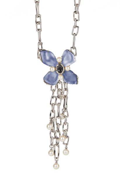 Alexis Bittar FUTURE ANTIQUITY BYZANTINE FLOWER STATEMENT NECKLACE