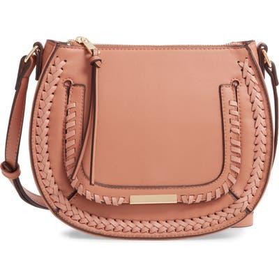 Sole Society Dayla Faux Leather Crossbody Bag - Beige